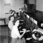 old photo of female phone operators